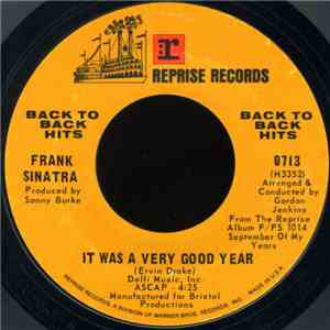 "Frank Sinatra - It Was A Very Good Year / Main Theme From ""The Cardinal"" (Stay With Me) FLAC album"