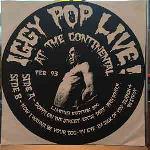 Iggy Pop - Live At The Continental Feb 93 FLAC album